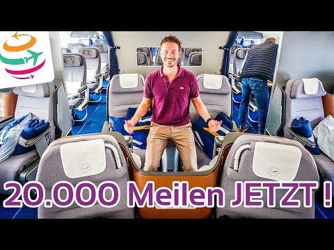 Wieder da! 20.000 Miles & More Meilen für den nächsten Prämienflug   GlobalTraveler.TV