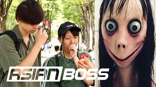 Japanese People React To Momo Suicide Challenge | ASIAN BOSS