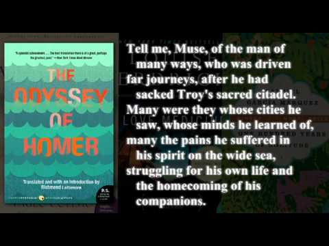 an analysis of the odyssey by homer and translated by richard lattimore