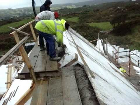 Icf concrete roof super insulated earth quake and for Insulated concrete construction