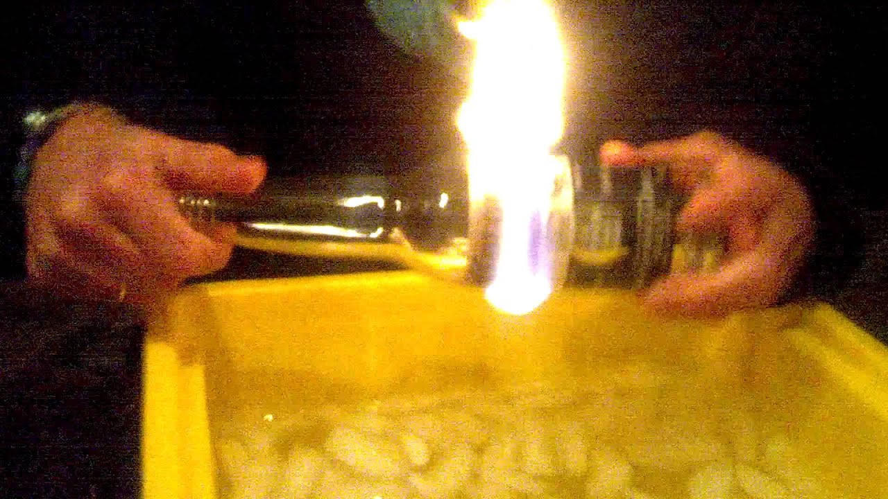 Cutting a beer bottle in half with string fire youtube for How to cut a bottle with fire