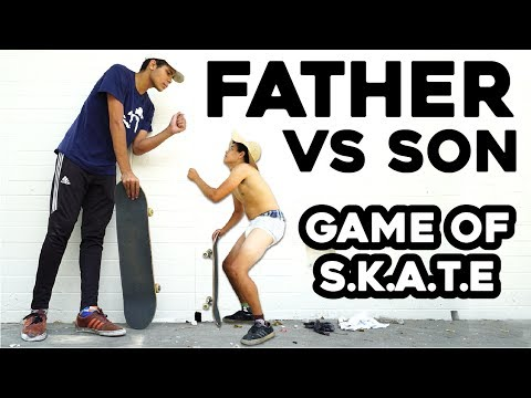 FATHER SON GAME OF SKATE!!!