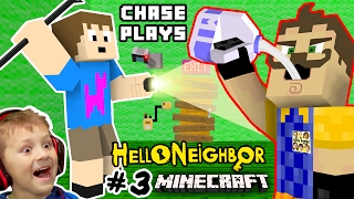 HE LOVES MILK!? HELLO NEIGHBOR MOD 4 MINECRAFT! Chase plays Alpha 3 House Showcase FGTEEV Randomness