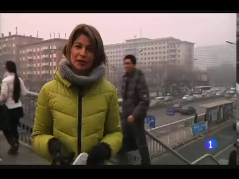 Alerta por  contaminacion en China 21-02-2014