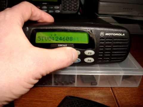 Motorola HAM radio GM360 VHF mobile radio.MPG