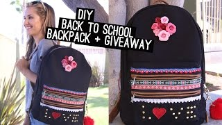 DIY: Back To School Backpack + Giveaway (STYLEWIRE)   Hollywire