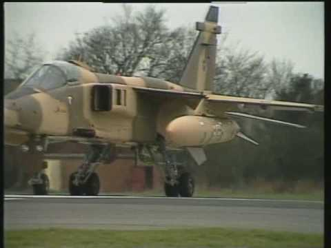 Jaguar Fighter Shaving Rocks at Low Level