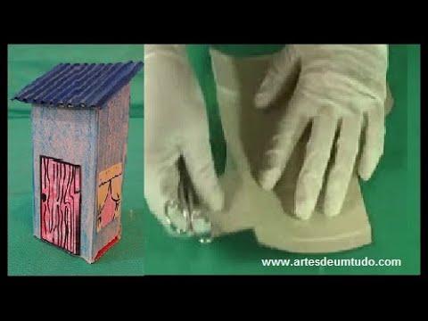 Como Fazer Casa de Caixa para Maquete 01