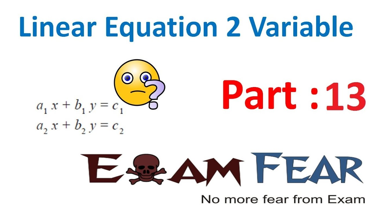 Examples of Math Equations Maths Pair of Linear Equation