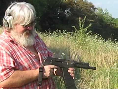 Less Than Lethal  Saiga 12 ga. 19 inch and 8 inch.wmv