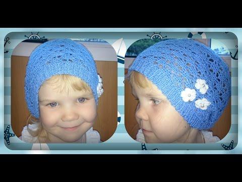 Ленивый узор для детской шапки (видео ) Узоры вязания спицами : видео