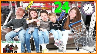 24 HOUR OVERNIGHT SAMS CLUB CHALLENGE 🛒/ That YouTub3 Family