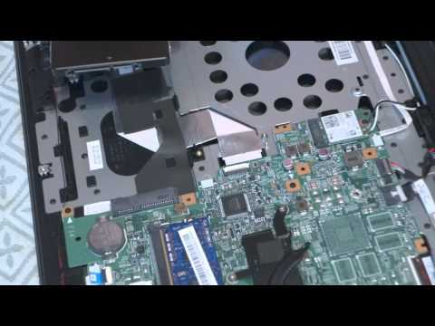 Open/Disassembling the Lenovo Flex 2 15 laptop - Disassemble Tutorial - Replace hard disk