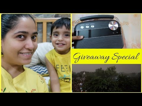 Weird Weather, Giveaway and Saregama Carvaan Review | Hindi Vlog