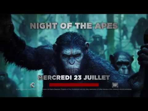La Planète des Singes : L'Affrontement - Trailer 'Night of the Apes' (FR)