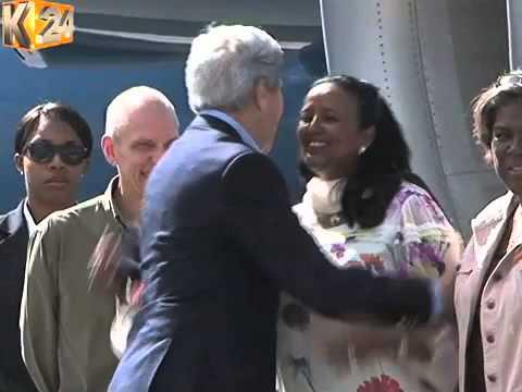 Tight Security As U.S. Secretary Of State Arrives In Kenya