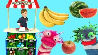 Learn Colors Fruits and Vegetables with Fizzy's Grocery Store