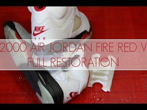 2000 Air Jordan Fire Red 5 Full Restoration