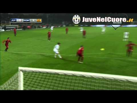 Goal Iaquinta Juventus - Roma 12^ Giornata Serie A (13-11-10)