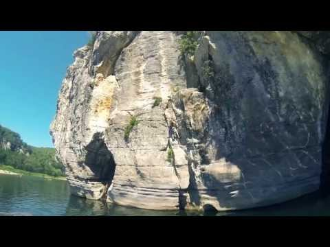 The Ardeche, Deep Water Soloing and Cliff Jumping, Pont d'arc