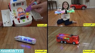 Hulyan & Maya's Bump & Go Toy Cars and Trucks w/ Lights and Sounds Vol. 1
