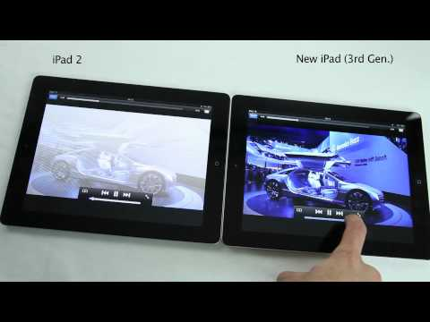 New iPad 3 VS iPad 2 Comparison HD