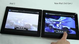 New iPad 3 VS iPad 2 Comparison HD