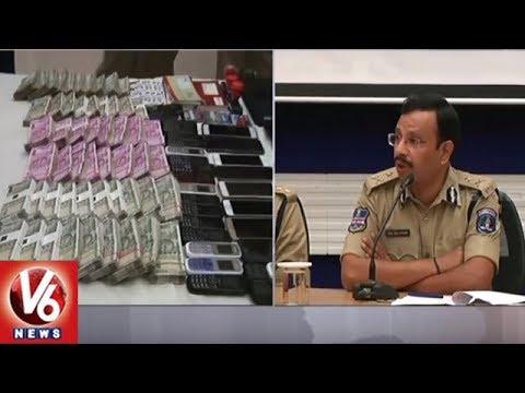 Cyberabad Crime Police Busted Online Banking Fraud Racket | 8 Arrest, Seizes 80 Lakhs | V6 News