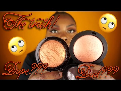 THE TRUTH! RUBY KISSES BRONZED GLOW VS MAC GOLD DEPOSIT. DUPE?!
