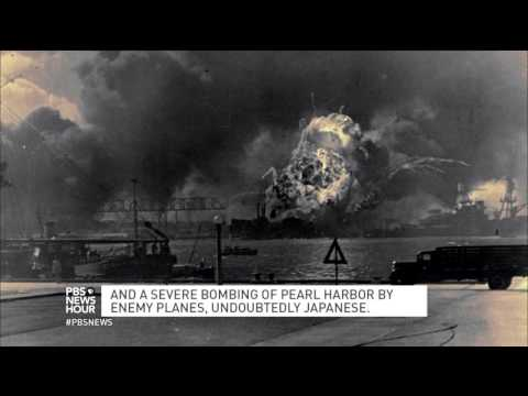 Hear the breaking news report from Pearl Harbor, 75 years later