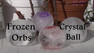 "Crystal Ball ""Frozen Orbs""  Pink Sparkle and Purple Shimmer Dust Frozen Water Balloon"
