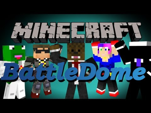 Minecraft BattleDome w/ SkyDoesMinecraft. Kermit. Nooch. and Dawn!