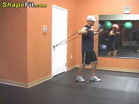 Resistance Bands Exercises For Pecs Chest Press Youtube