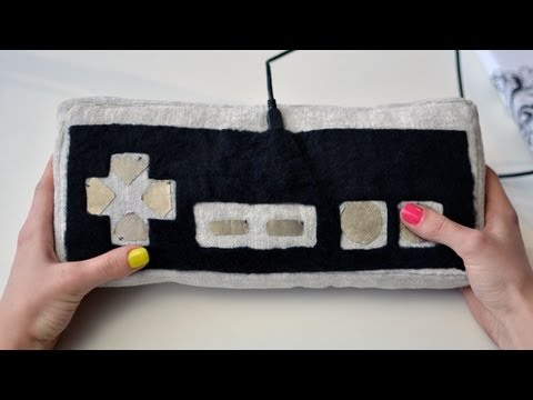 Plush Game Controller with Flora & Conductive Fabric