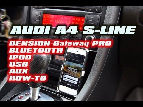 AUDI A4 S4 BLUETOOTH IPOD USB DENSION GATEWAY PRO GWP1AC1 GWP1AC2 (iPHONE SYMPTHONY)