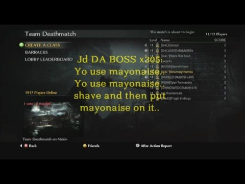 Call of Duty 5 World at War Beta Lobby Fun