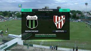 Fútbol en vivo. Chicago - Instituto. Fecha 20. Torneo Primera B Nacional 2014. FPT.