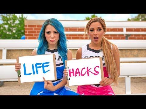 Back to School Life Hacks for Girls! Niki and Gabi