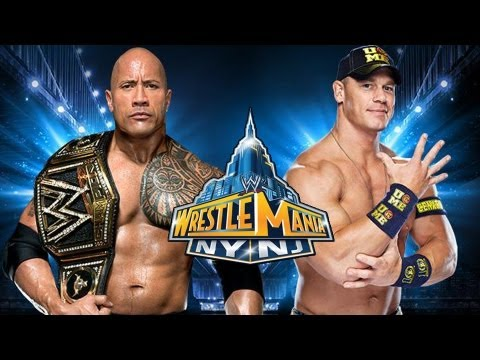 WWE Wrestlemania 29 - John Cena  vs. The Rock WWE Title Full Match Prediction