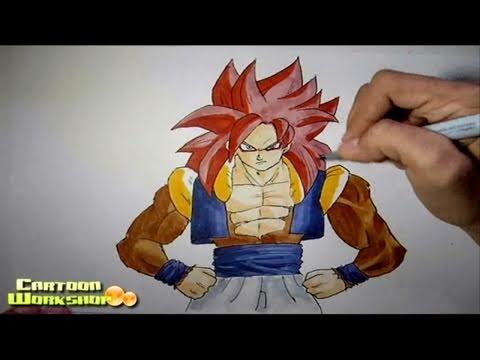 Drawing Gogeta Ssj4 ms Paint How to Draw Gogeta Ssj4