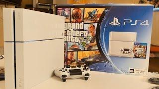 Распаковка бандла GTA 5 и белой PlayStation 4 (Unboxing)