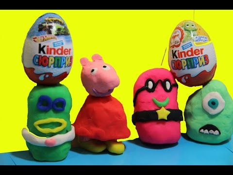 Play Doh PEPPA PIG ❤ Kinder Surprise Angry Birds Cars 2 Monsters inc Donald Duck
