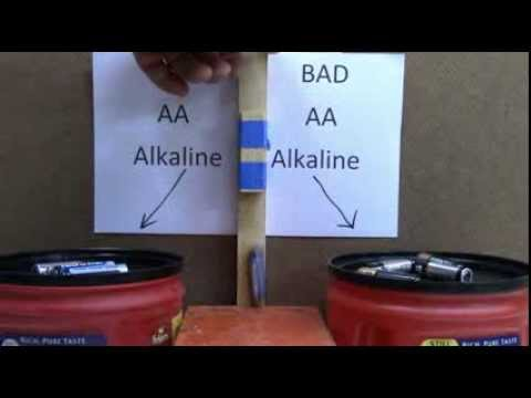 Why A Dead Alkaline Battery Bounces!