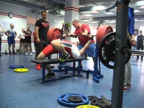 Жим 235 в фитнесс клубе Пионер по правилам ИПФ