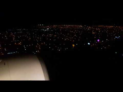 Landing to Managua Nicaragua by night