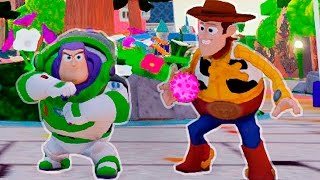 Toy Story Woody and Buzz Lightyear saves Princess Elsa From Jail Superhero Movie Video for Kids