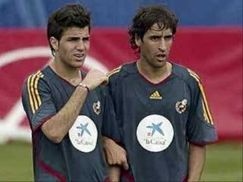 Cesc Fabregas with Spain