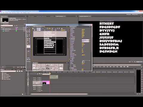 Tutorial Adobe Premiere Pro Cs6 Como hacer titulos de credito animados - Español