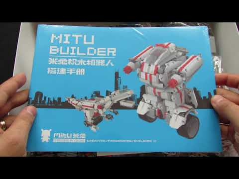 Unboxing Xiaomi Mi JMJQR01IQI Bluetooth Control Mitu Building Block Robot