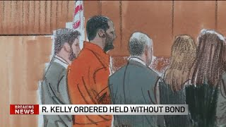 R. Kelly held without bond, pleads not guilty